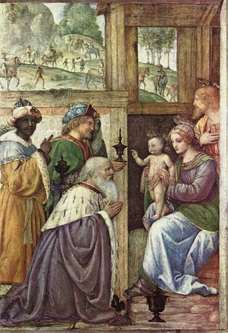 Bernardino Luini - Adoration of the Magi, detached fresco, 1520-25 (Musée du Louvre).