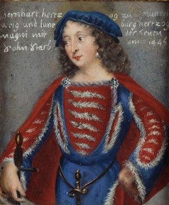 Bernard I, Duke of Brunswick-Lüneburg - Image: Bernhard Ivonbraunschweig lüneburg