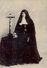 La Madre María Ignacia, quien modificó el texto de la novena a finales del siglo XIX.