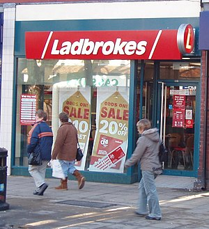 English: Betting shop, Formby Ladbrokes is a n...
