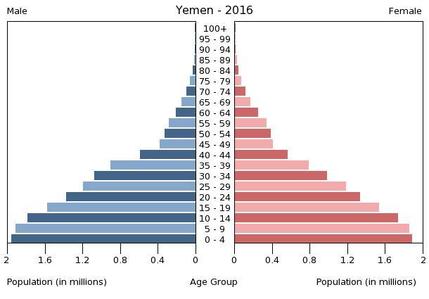 Bevölkerungspyramide Jemen 2016