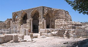 Bayt Jibrin - Remains of the Crusader church in Bayt Jibrin, 2009