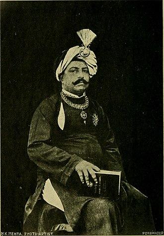 Porbandar State - Maharaja Bhavsinhji Madhavsinhji.