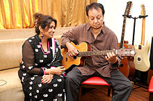 Bhupinder & Mitali Singh rehearses for their upcoming music album Aksar (2).jpg