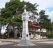 El famoso reloj del centro de Victoria, capital de Seychelles