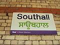 Bilingual sign, Southall railway station - DSC07015.JPG