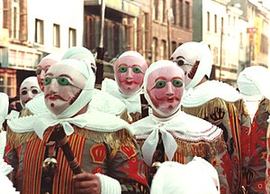 Folklore of Belgium - The Gilles at the Carnival of Binche