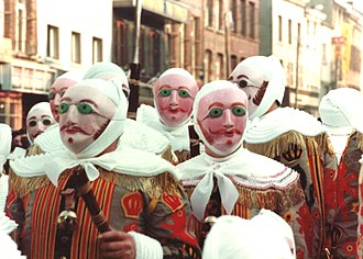 Gilles - The Gilles, clad in their costumes and wax masks