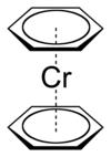 Strukturformel von Bis(benzol)chrom