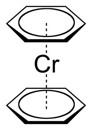 Bis(benzene)chromium - Image: Bis(benzene)chromium 2D skeletal