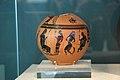 Black-figure pottery, Midas, Hermes, Silenos, 500 BC, AM Eleusis, 081188.jpg