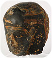 Black-painted mummy mask - crop - HARGM11570.JPG