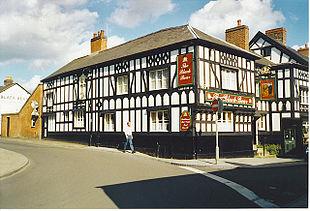<em>Black Bear Inn</em> at the junction of Church St. and High St.