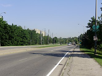Black Creek Drive - Black Creek Drive north of Eglinton Avenue West.