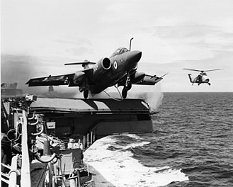 Blackburn Buccaneer - A Buccaneer S.2 launches from an aircraft carrier; the S.2 featured more powerful Rolls-Royce Spey turbofan engines that allowed it to launch at its maximum take-off weight.