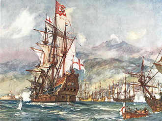 Battle of Santa Cruz de Tenerife (1657) - Robert Blake's flagship George at the battle of Santa Cruz de Tenerife in 1657.