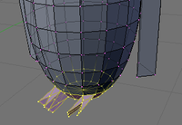 Blender - Penguins to spheres - feet selection.png