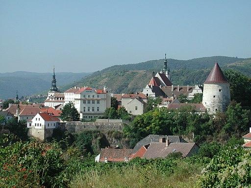 Blick auf die Altstadt von Krems