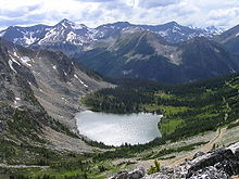 Blowdown Lake in the mountains near Pemberton, British Columbia