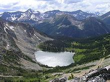 Blowdown Lake in the mountains near Pemberton, British Columbia