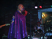 On stage at Bottom of the Hill, circa 2005
