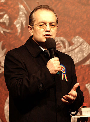 Romanian legislative election, 2008 - Second Prime Minister Designate, Emil Boc speaking.