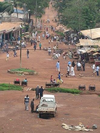 Boda, Lobaye - The central market in Boda.