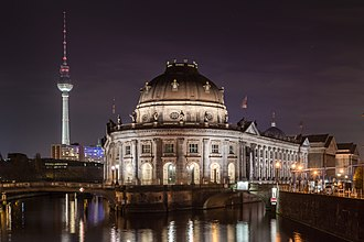 Bode Museum - Image: Bode Museum at night (MK)