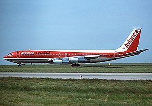 Avianca Flight 52 - An Avianca Boeing 707-321B similar to the aircraft involved in the accident