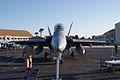 Boeing FA-18F Super Hornet Tigerstripe HeadOn MacDill AirFest 5Oct2011 (14699671595).jpg