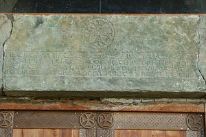 Bolnisi inscriptions - Image: Bolnisi Sioni church. Inscription with a cross