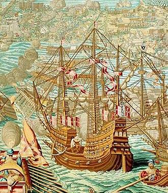 Conquest of Tunis (1535) - Image: Bombardment of La Goletta