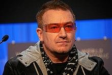 f310261cb Bono no Fórum Econômico Mundial em 2008, reunido em Davos, na Suíça.