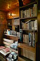 Bookshelf of cafe in Shimokitazawa - 2008-04-20 15.36.27 (by Guwashi999).jpg