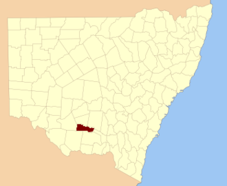 Boyd County, New South Wales - Location in New South Wales