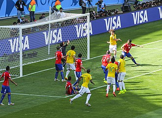 Claudio Bravo - Bravo in action against Brazil at the 2014 World Cup