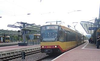 Bretten station - Line S4 towards Heilbronn