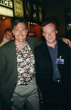Brian Yuzna - Brian Yuzna (left) with Christophe Gans at the 1996 Cannes Film Festival