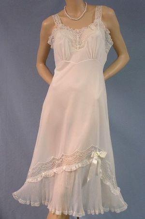 Vintage clothing - 1950s bridal vintage slip.