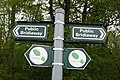Bridleway and 'Stepping Out' walk fingerpost, Potterhanworth, Lincolnshire - geograph.org.uk - 424996.jpg