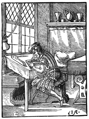 THE WOOD-ENGRAVER By Jost Amman (1568)