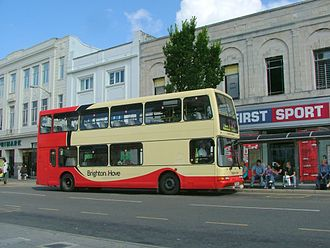 Brighton & Hove (bus company) - East Lancs Lolyne bodied Dennis Trident 2 in August 2005