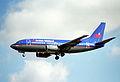 British Midland Airways Boeing 737-59D; G-BVKD@LHR;04.04.1997 (5216922693).jpg