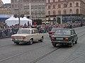 Brno, 140 let MHD (18), náměstí Svobody, žigulíci.jpg