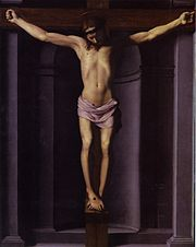 Bronzino 's depiction of the Crucifixion with 3 nails, no ropes, and a ...