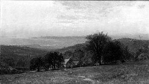 George Henry Smillie - Sunset Landscape by George Henry Smillie