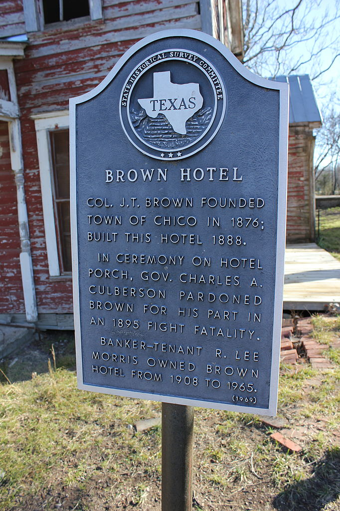 File Brown Hotel  Chico  Texas Historical Marker