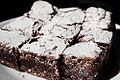 Brownie squares with confectioner's sugar 27 March 2010.jpg