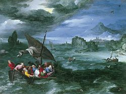 Jan Brueghel the Elder: Christ in the Storm on the Sea of Galilee