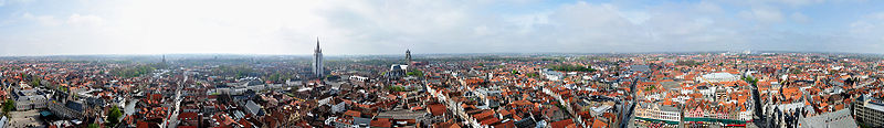 Panorama of the city, taken from the belfry (2009).